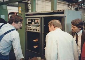 Richard Wiederkehr (Betriebsleiter Pumpenfabrik Wangen Werk Hagen am Dreh-Zenter), Emil Schumacher & Aloys Wilmsen
