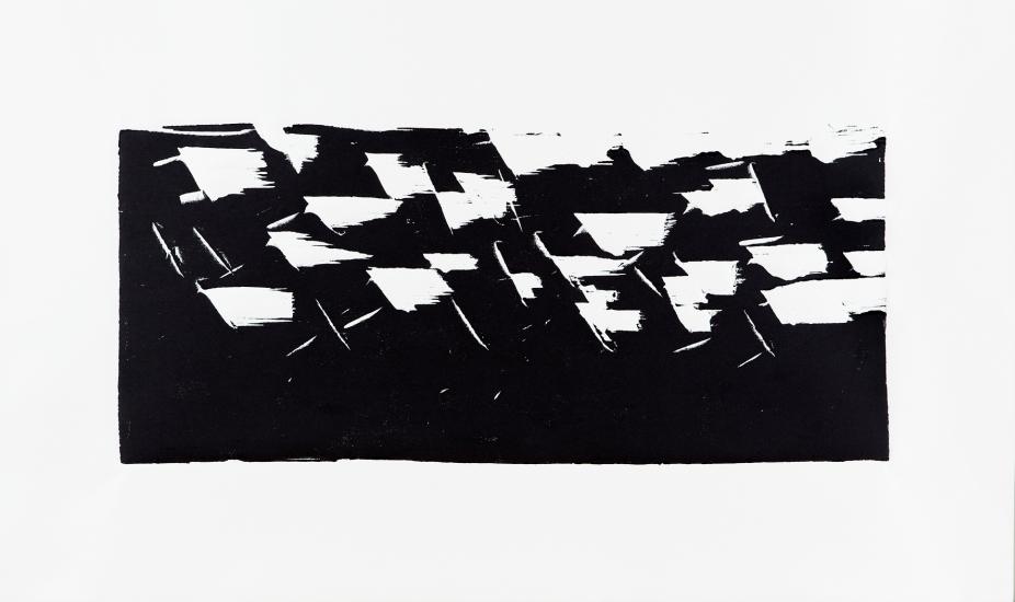 Günther Uecker Grafik, Seestück 2, 2014