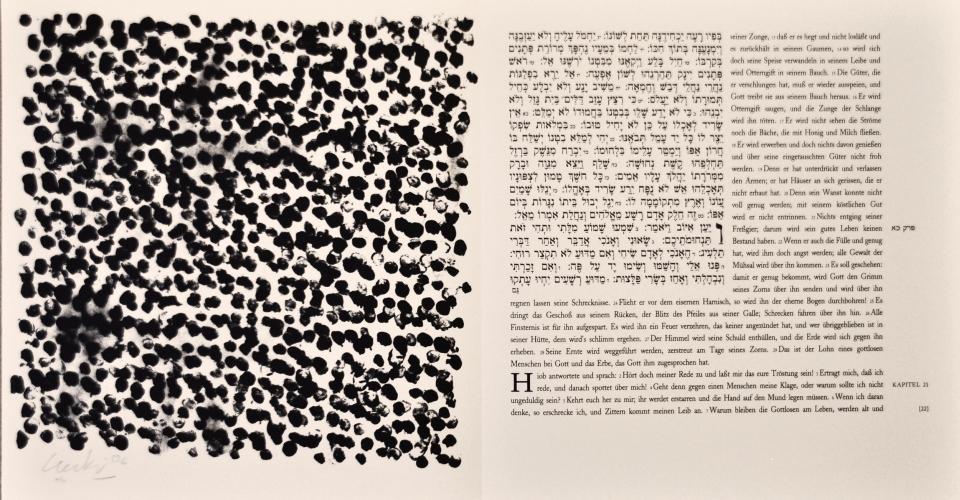 Günther Uecker Künstlerbuch, Hiob - Blatt 22, 2007