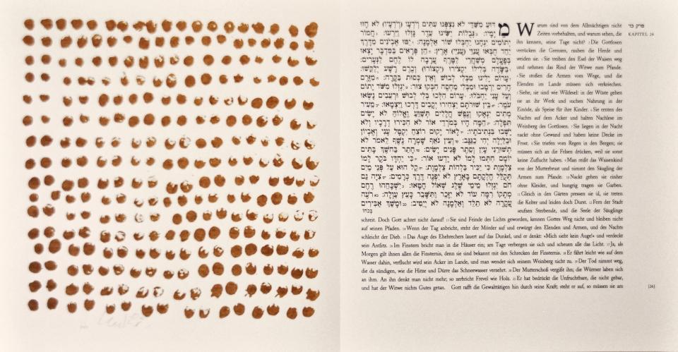Günther Uecker Künstlerbuch, Hiob - Blatt 26, 2007