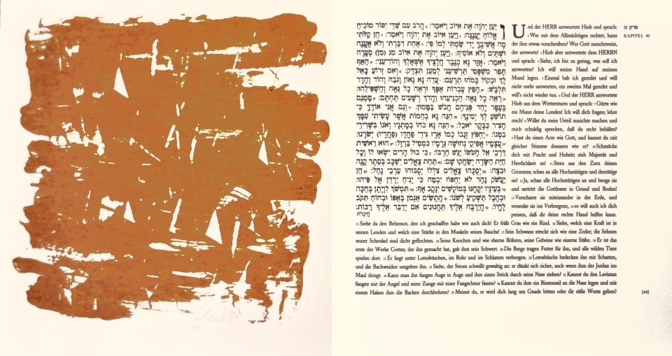 Günther Uecker Künstlerbuch, Hiob - Blatt 44, 2007