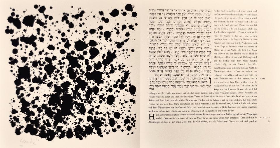 Günther Uecker Künstlerbuch, Hiob - Blatt 6, 2007