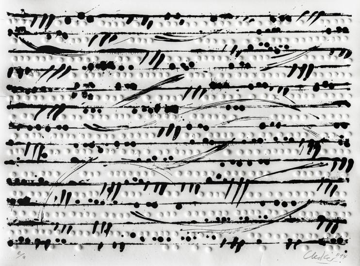 Prägedruck, Optische Partitur 1 (quer), 2014