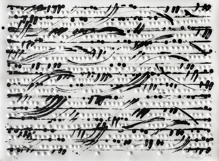 Prägedruck, Optische Partitur 2 (quer), 2014