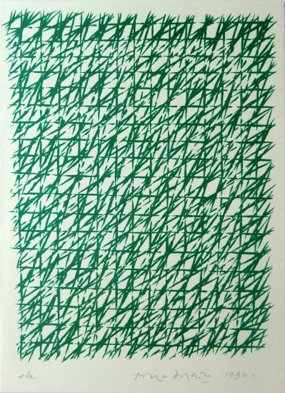Piero Dorazio Grafik, Capodanno/Neujahr, 1990