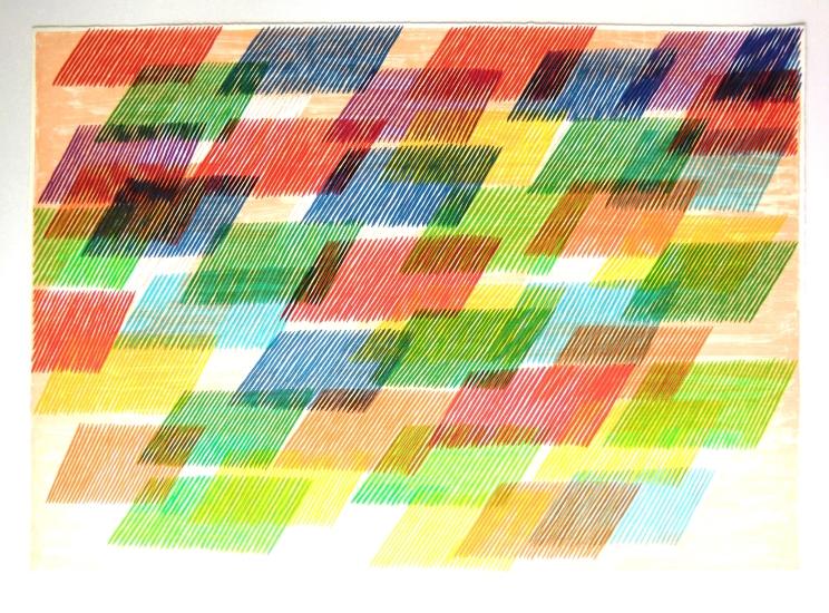 Piero Dorazio Grafik, Le ore, 1982