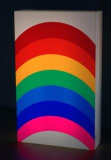 Otto Piene, Rainbow, Lichtobjekt, Acrylglas, 1974
