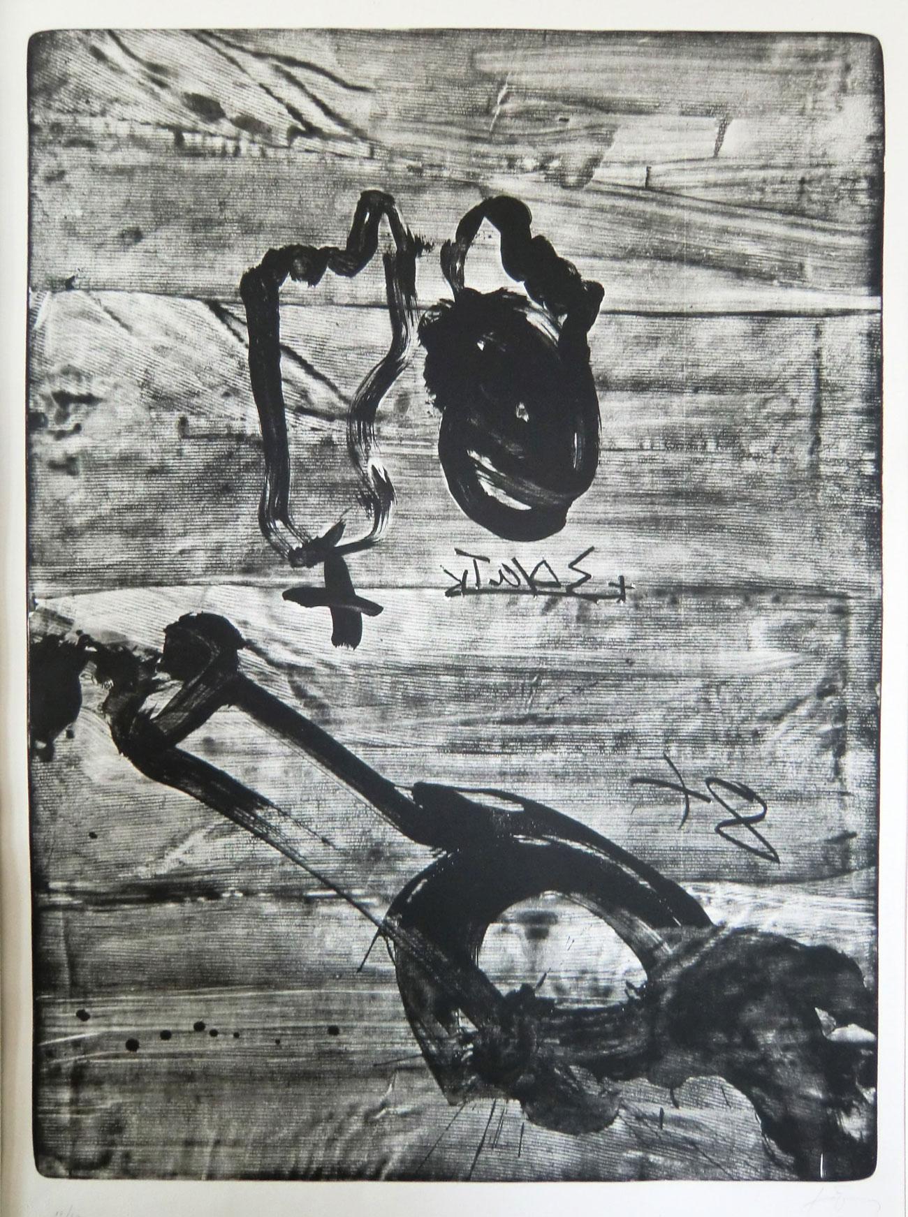 Antoni Tapiès Grafik, Improvisations en blanc et en noir 6