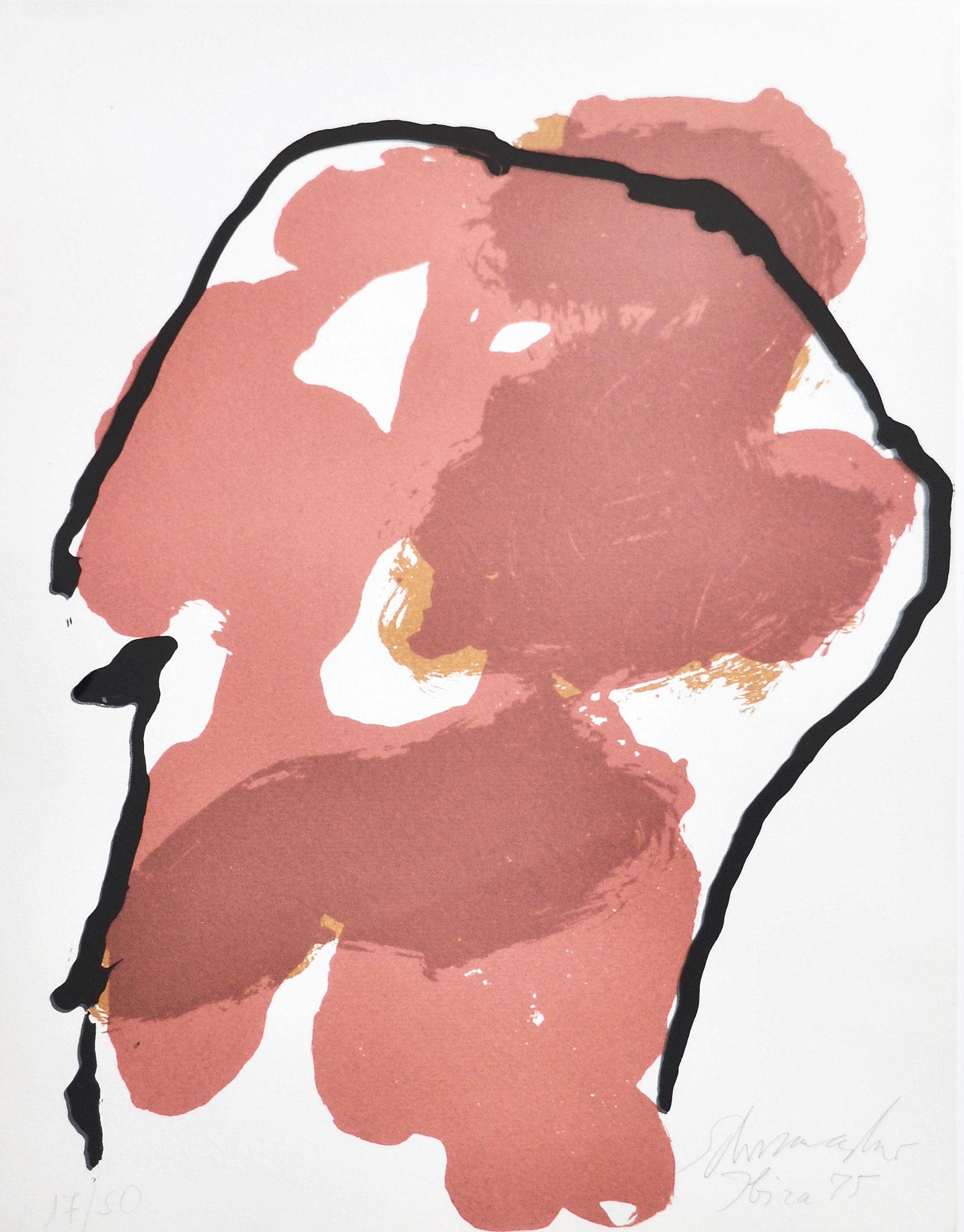 Emil Schumacher Grafik, Composition Ibiza, 1975