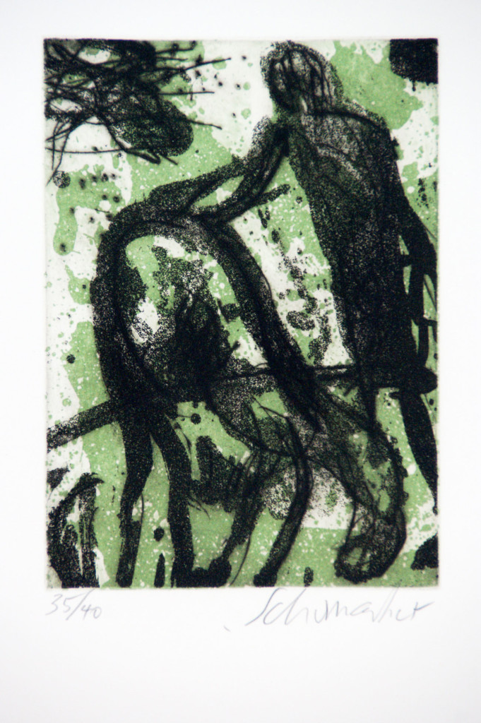 Emil Schumacher Grafik, Früchtestunde, 1996