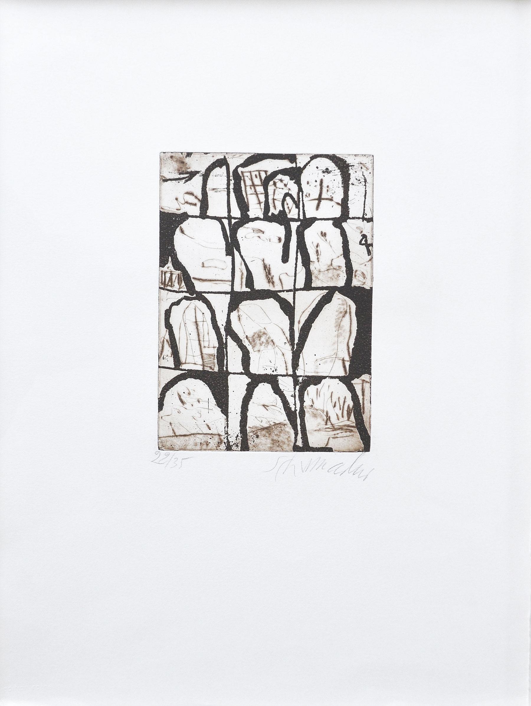 Emil Schumacher Grafik, Ohne Titel