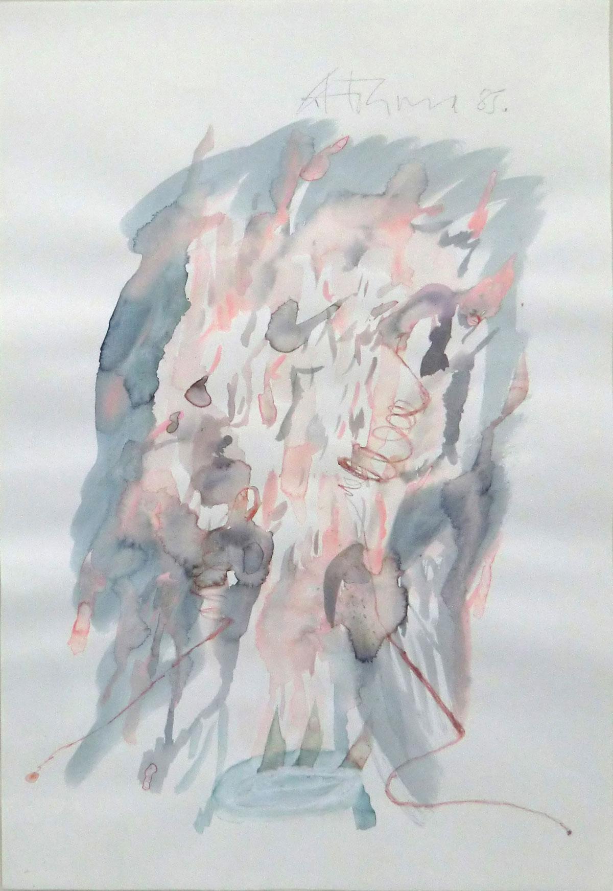 Gerhard Hoehme Malerei, Ohne Titel, 1985