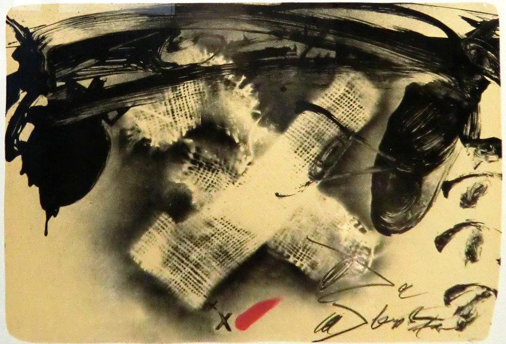 Antoni Tàpies, Grafik, Lithografie, 1980, X de tissu