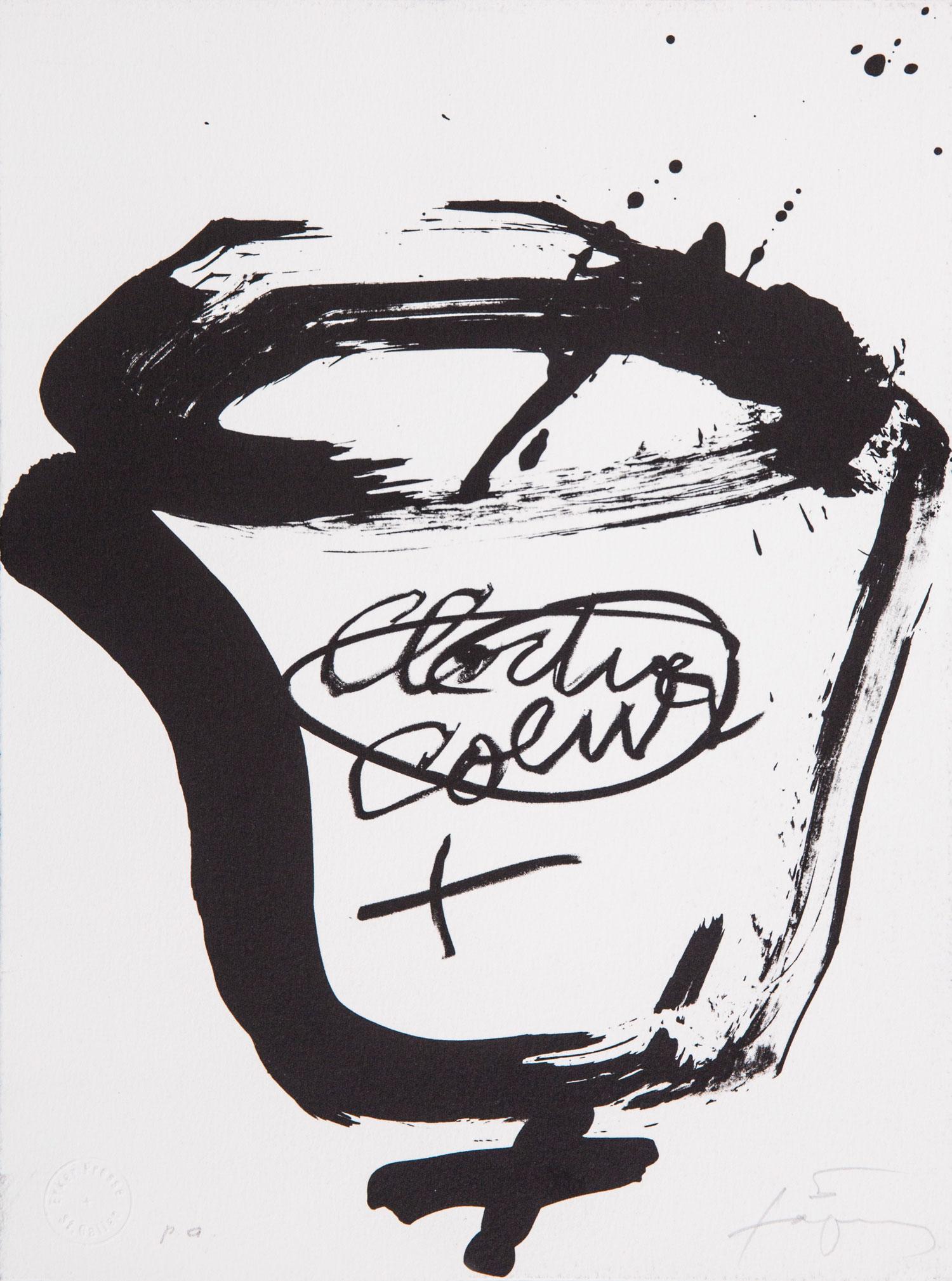 """Antoni Tàpies Künstlerbücher, Holzschnitt-Reihe """"Suite Erker"""", Cloche, coeur, 1993"""