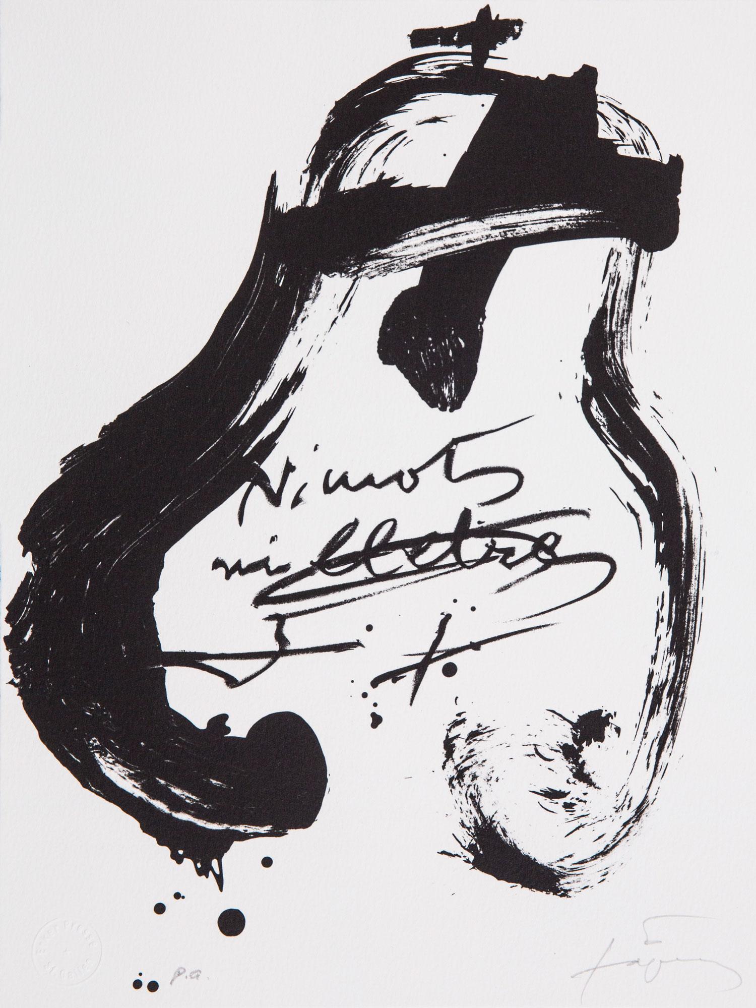 """Antoni Tàpies Künstlerbücher, Holzschnitt-Reihe """"Suite Erker"""", Ni mots, ni lletres, 1993"""