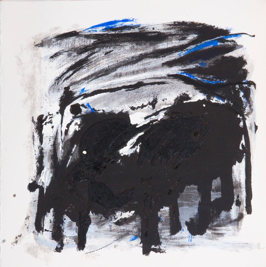 Emil Schumacher Grafik, Genesis Blatt 1, 1999