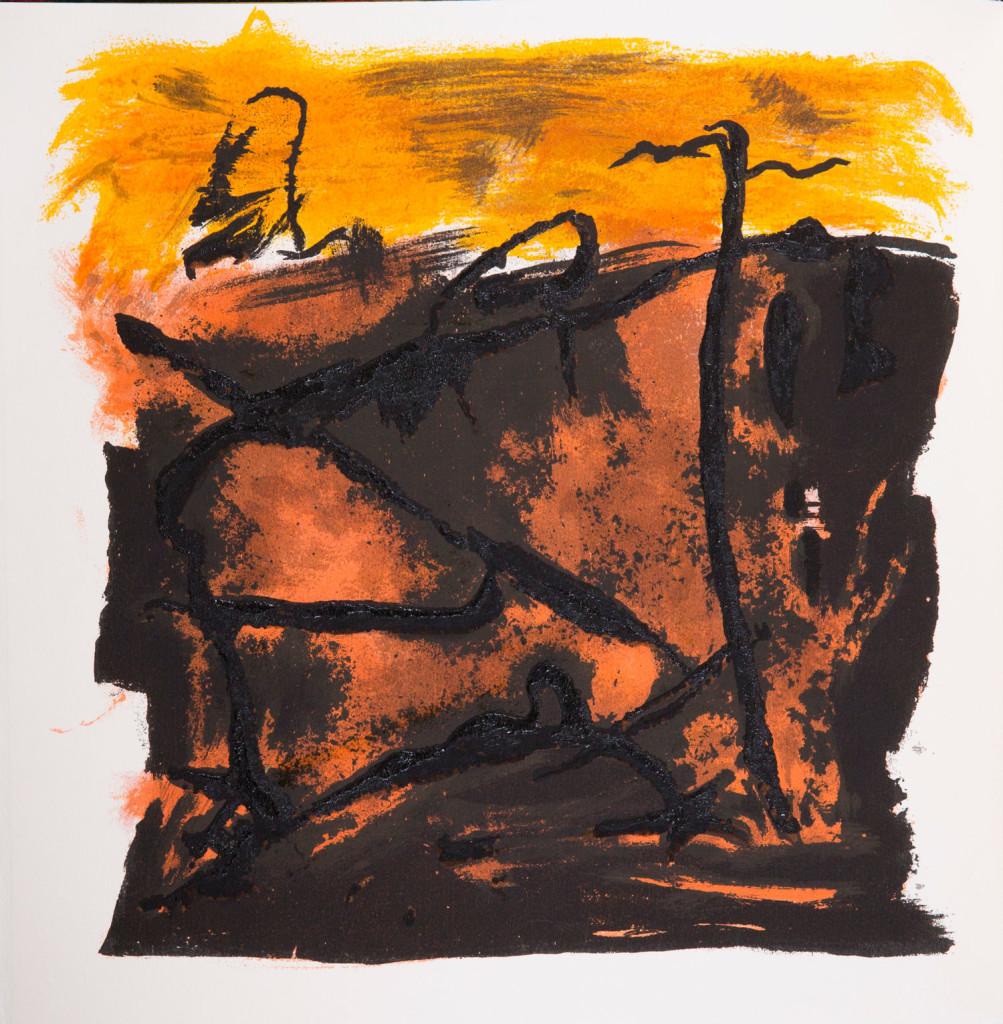Emil Schumacher Grafik, Genesis Blatt 11, 1999