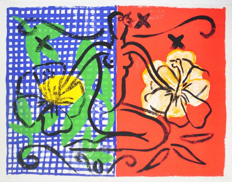 Stefan Szczesny Grafik, Mustique Flowers, 1999