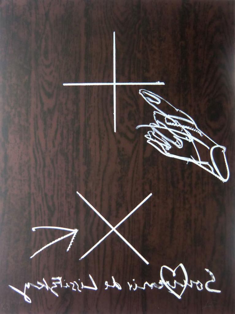 Antoni Tàpies Grafik, Souvenir de Lissitzky, 1998