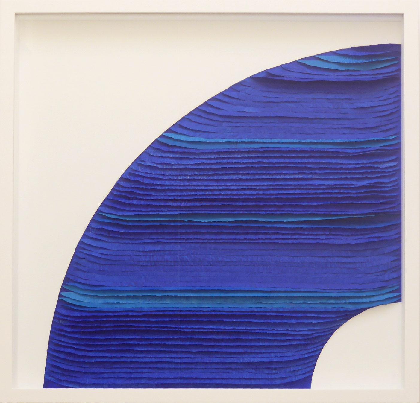 Frieda Martha Papierarbeit, Farbe sehen blau, 2015