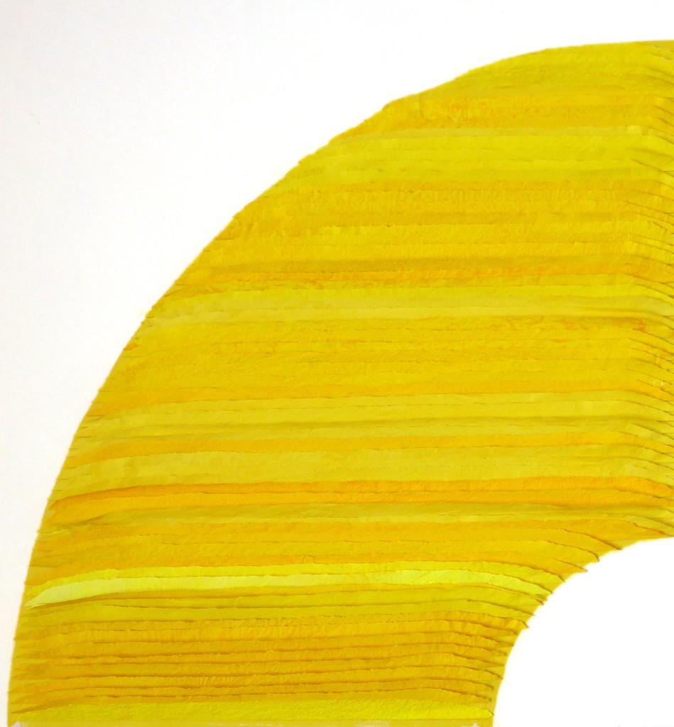 Frieda Martha Papierarbeit, Farbe sehen gelb, 2016