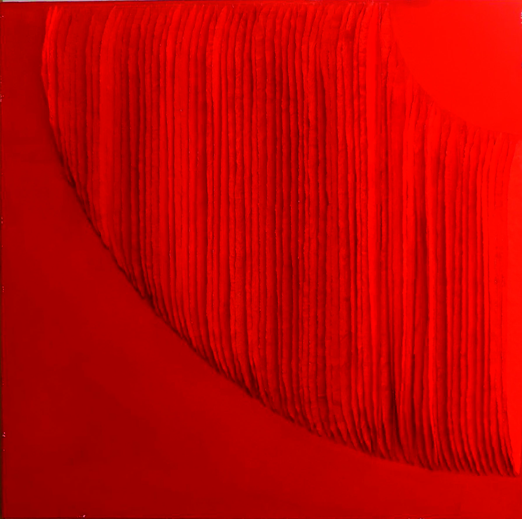 Frieda Martha Papierarbeit, Farbe sehen rot, 2015