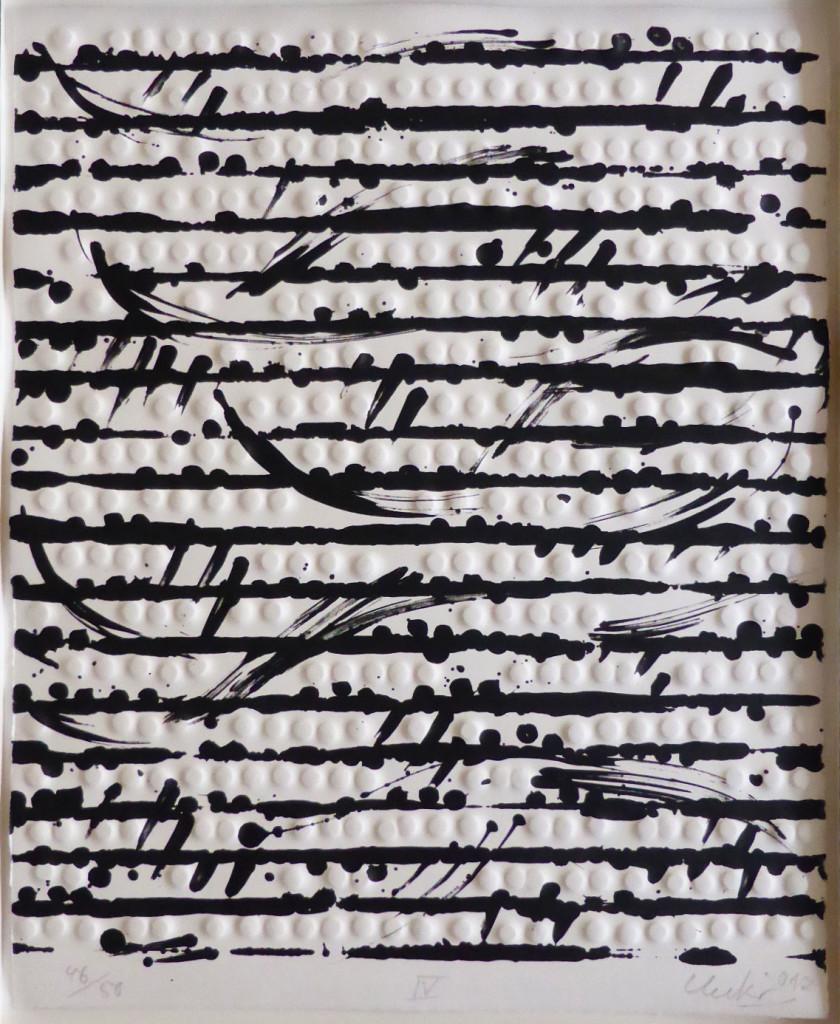 Günther Uecker Prägedrucke, Optische Partitur 4, 2012
