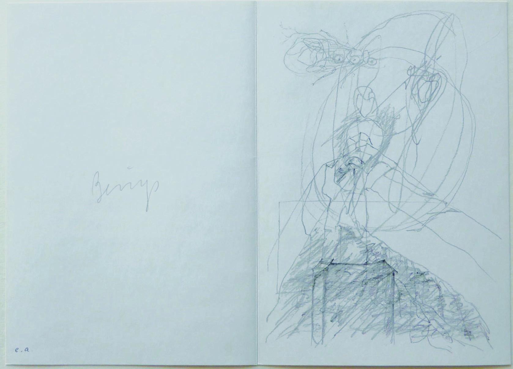 Joseph Beuys Grafik, Ohne Titel
