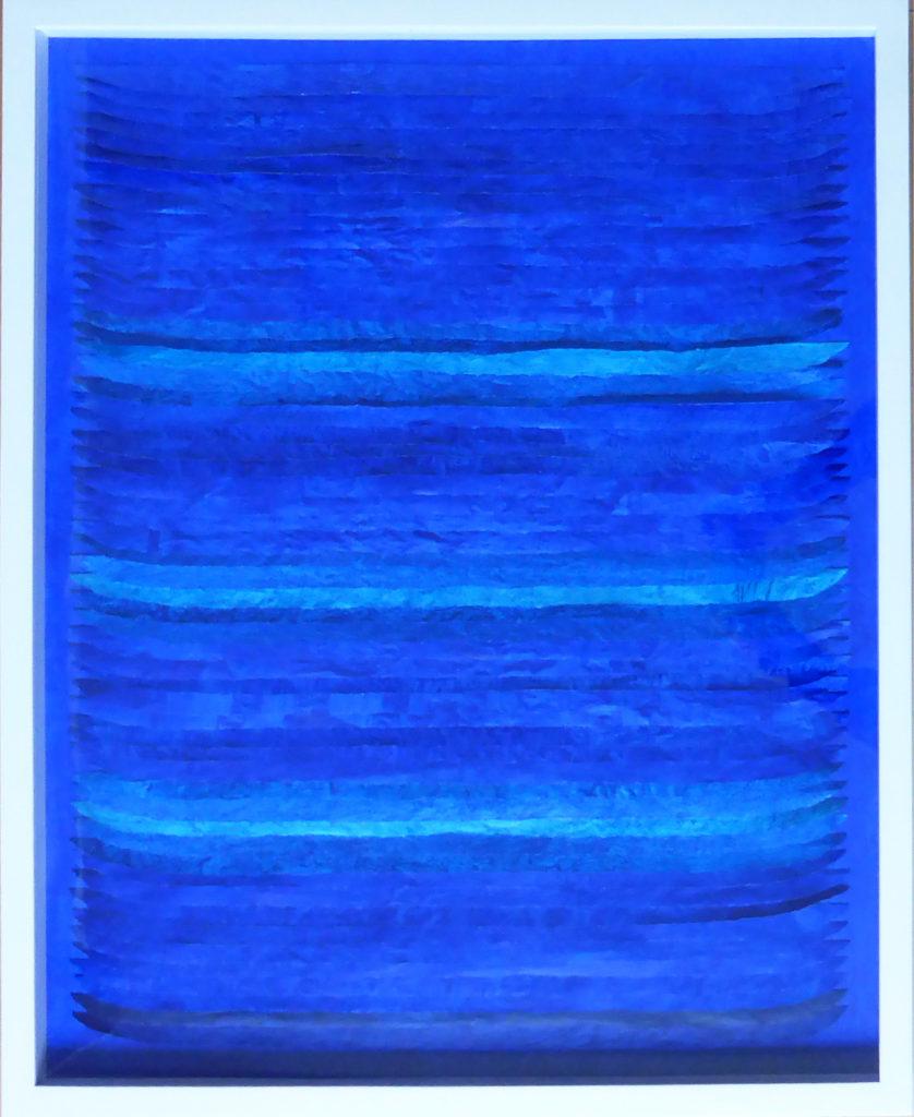 Frieda Martha Papierarbeit, Nachtblauer Tag, 2016