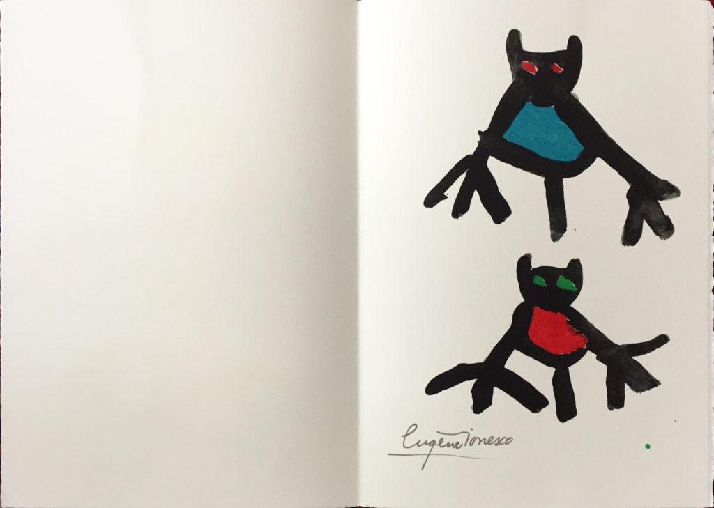 Eugene Ionesco Grafik, Jahresgabe 1987