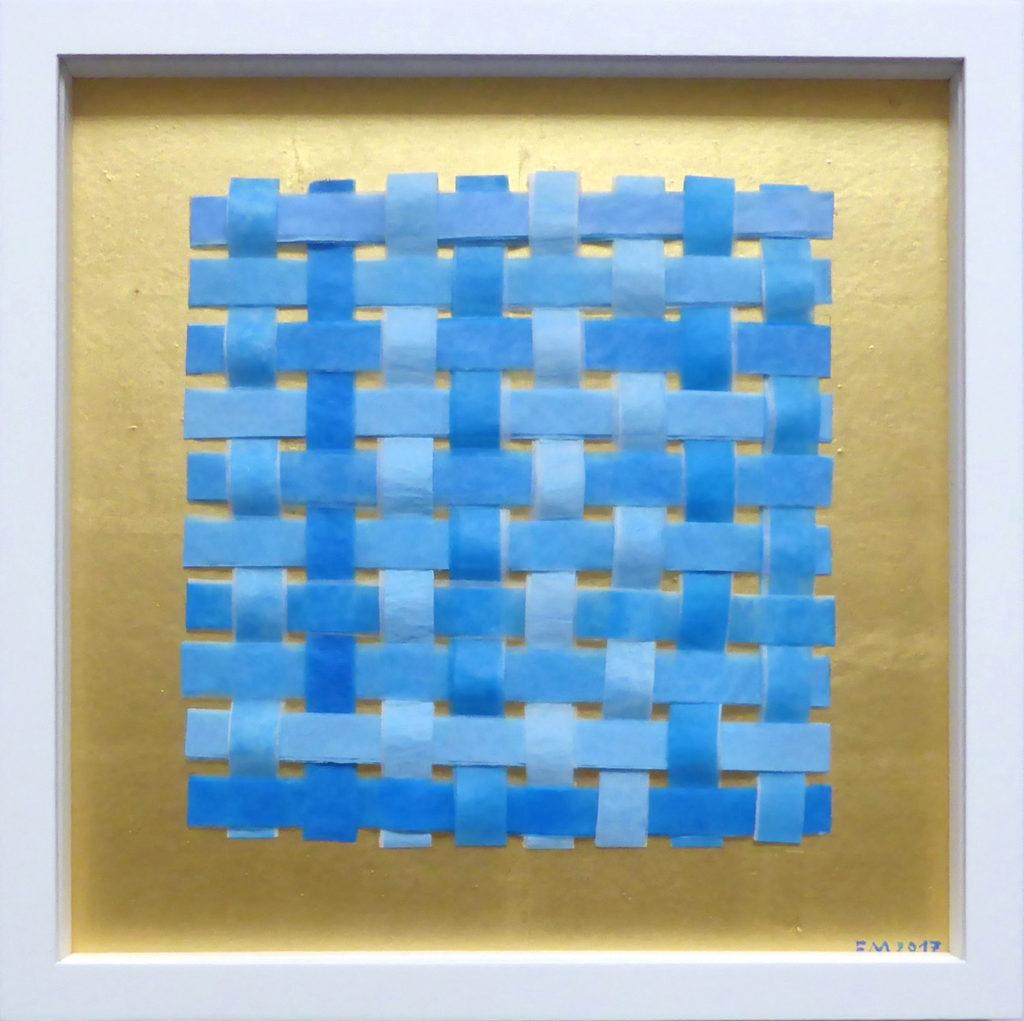 Frieda Martha Papierarbeit, Vernetzt (Blautöne), 2017