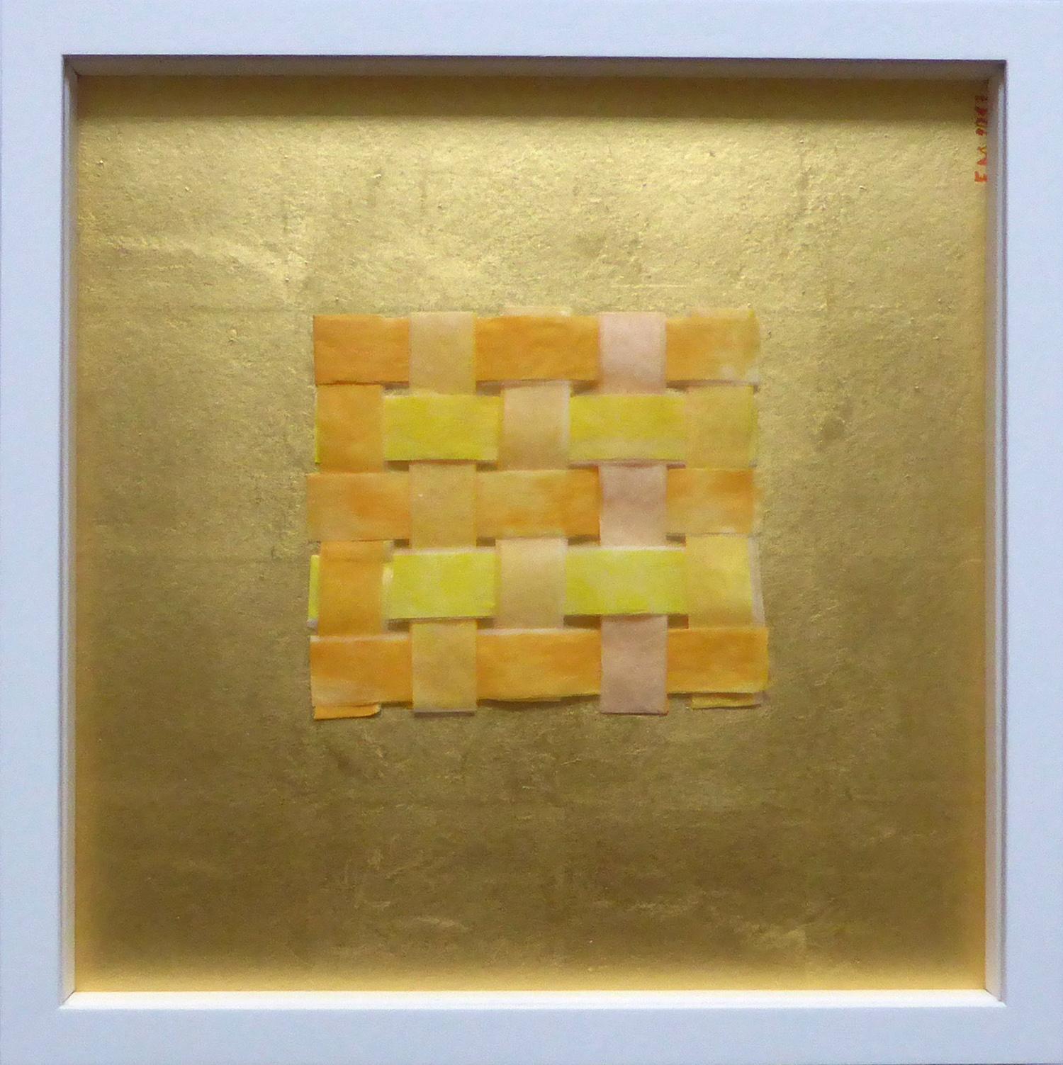 Frieda Martha Papierarbeit, Vernetzt (Goldtöne), 2017