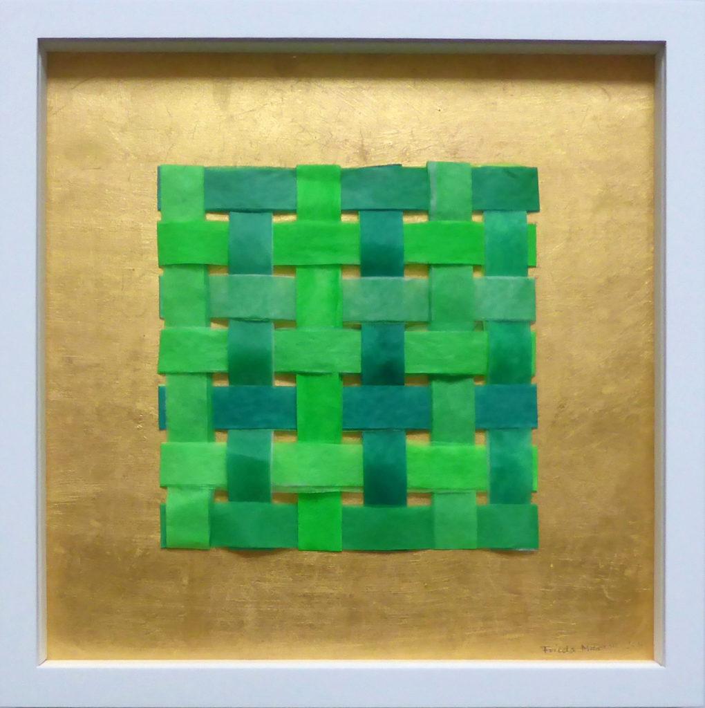 Frieda Martha Papierarbeit, Vernetzt (Grüntöne), 2017