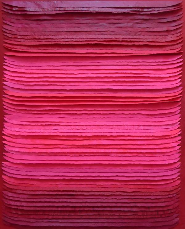 Frieda Martha Papierarbeit, Rosenfarbener Tag, 2017