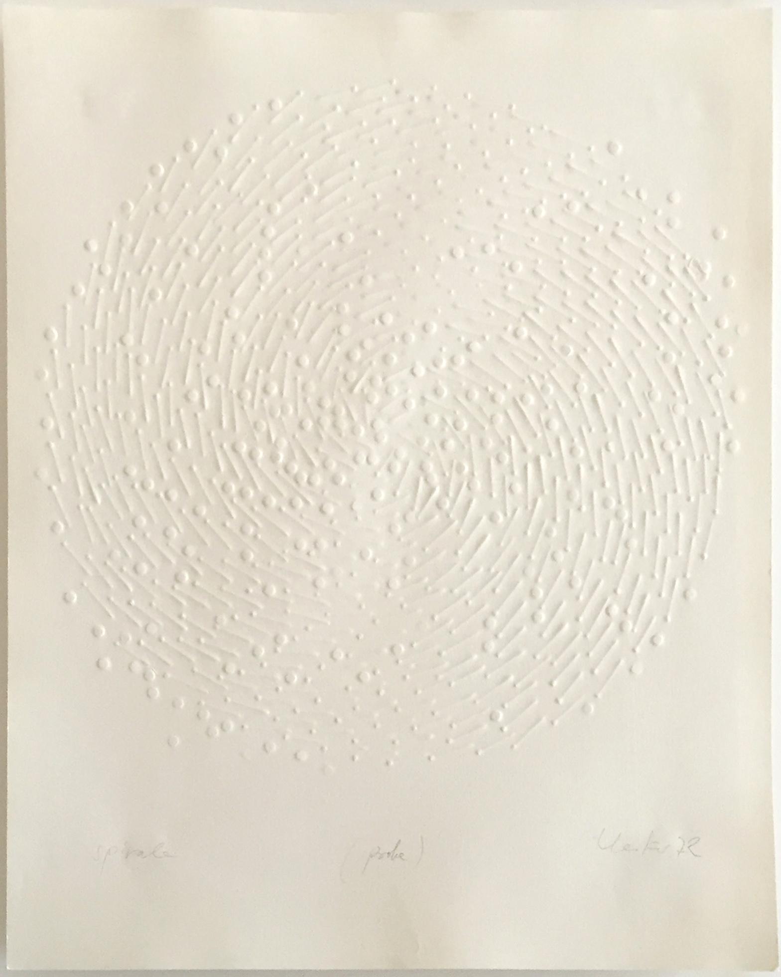 Günther Uecker Prägedruck, Spirale, 1972
