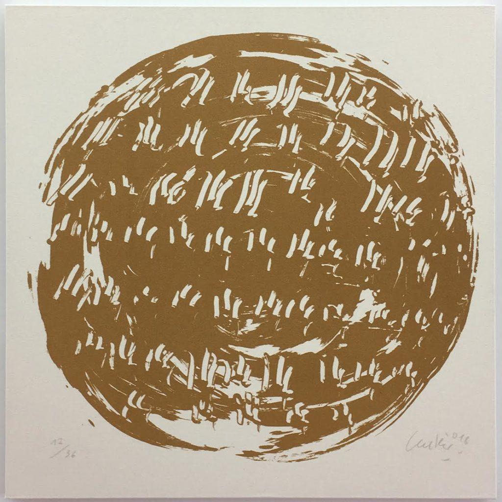 Günther Uecker Terragrafiedruck, Ouroboros Nr. 12, 2018