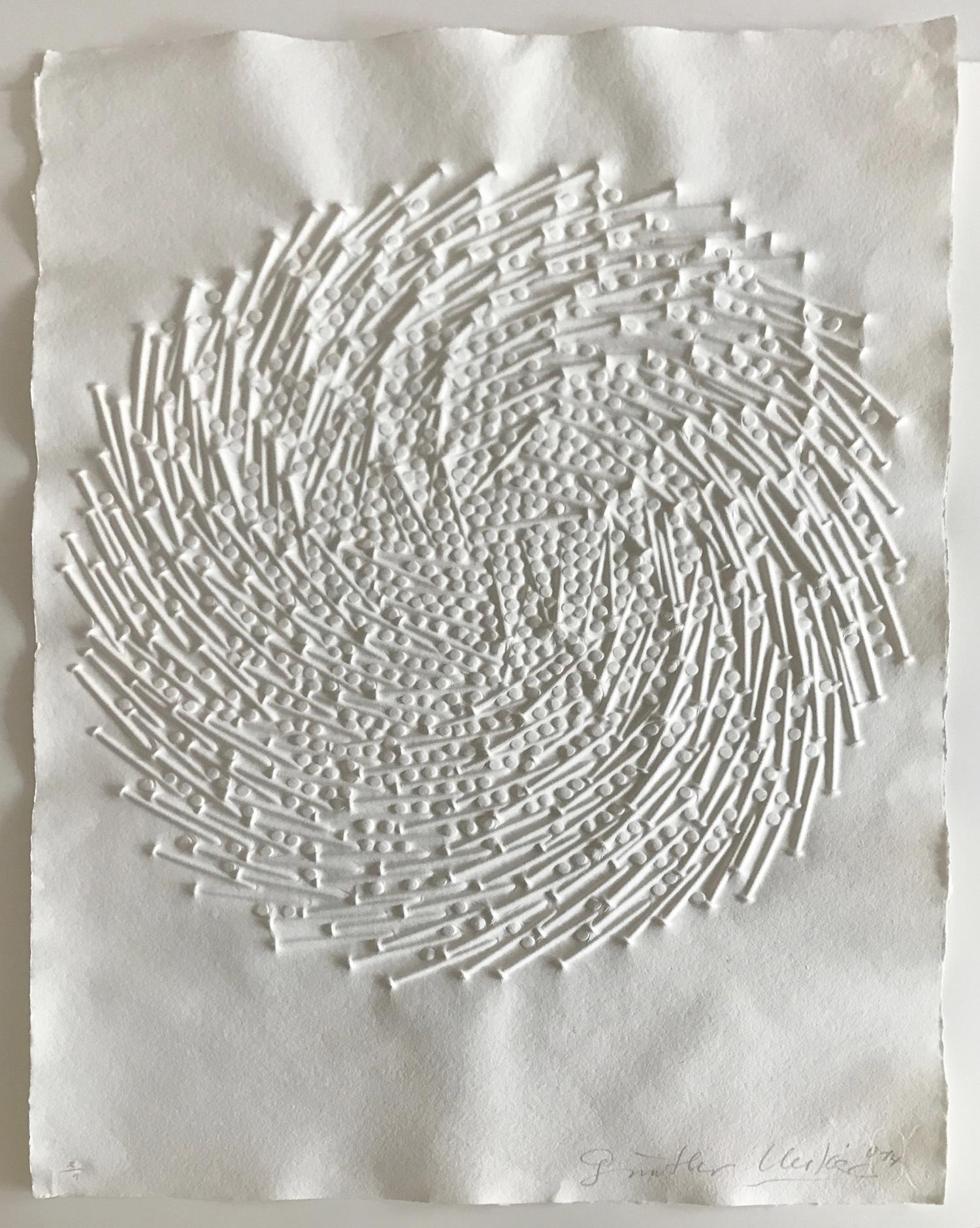Günther Uecker Prägedruck, Spirale 2014