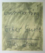 Suite Erker - 9 teilige ganze Mappe mit lithografiertem Titelblatt